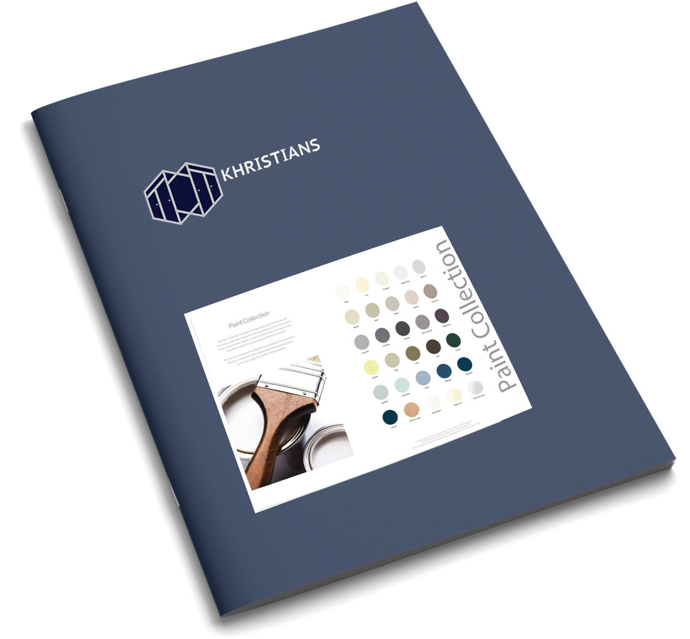 Paint collection brochure cover